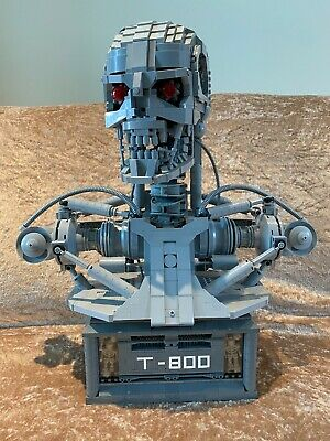 £600 • Buy Genuine Lego T-800 Bust MOC Stunning, Rare, Unique With Motors & Light Up Action