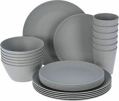 £38.99 • Buy 24 PCS Melamine Picnic Plate Dinner Set 6 People Outdoor Party Camping Travel