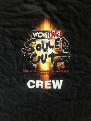 $ CDN100.24 • Buy Vintage 1999 WCW NWO Souled Out PPV CREW Shirt RARE NEW