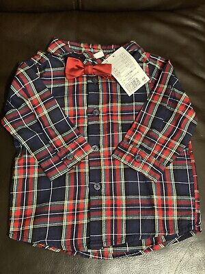 £5.50 • Buy Baby Boy Shirt With Bow Tie 6-9 Months. New