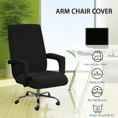 AU24.69 • Buy 1xSwivel Computer Chair Cover Stretch Office Armchair Protector Seat Cover Decor