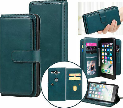 AU15.50 • Buy Sony  Xz2 Compact Pu Leather 10 Card Triple Wallet