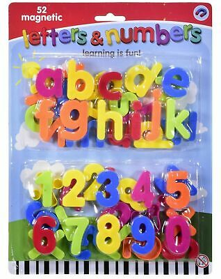 £4.99 • Buy 52 Pcs Magnetic Letters Alphabet & Numbers Fridge Magnets Toys Kids Learning Mix