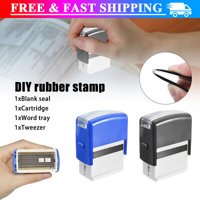 £8.78 • Buy DIY Personalised Self-Inking Rubber Stamp Kit Customized Business Name Address