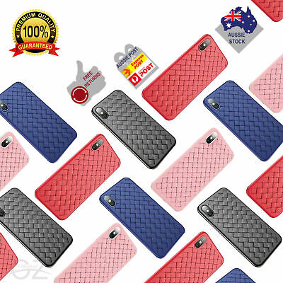 AU1.99 • Buy Apple IPhone XS Max XR 8 7 Plus Case Shockproof Woven Pattern TPU Leather Cover