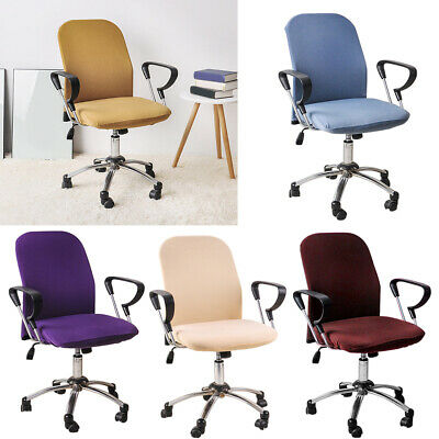 AU10.57 • Buy Split Office Chair Cover Desk Task Seat Covers Stretch Rotating Chair Slipcover