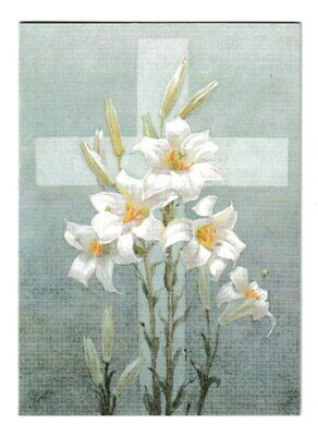 £1.99 • Buy Margaret Tarrant Lilies On A Cross Medici Easter Greeting Card