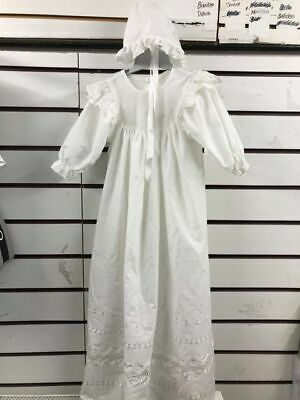 £15.99 • Buy Beautiful Leipold Christening Gown Inc Bonnet 6mths+ Cotton