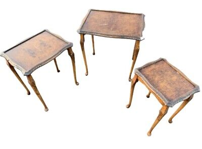 £65 • Buy Cabriole Legs Bevan Funnell Reprodux Walnut Nest Of Tables