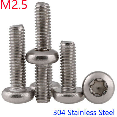 $2.29 • Buy M2.5 - 0.45 304 Stainless Steel Button Head Torx Security Machine Screws Bolts