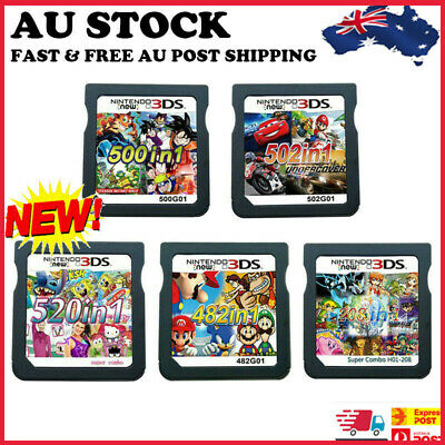 AU30.02 • Buy 208/482/500/502/520 In1 Video Games Cartridge Cards For DS NDS 2DS 3DS NDSI NDSL