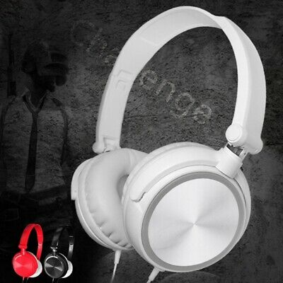 $ CDN11.09 • Buy Wired Headphones Over Ear Headsets Bass Stereo Earphone With Microphone