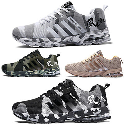 £21.55 • Buy Mens Shock Absorbing Running Trainers Casual Lace Gym Walking Sports Shoes Size