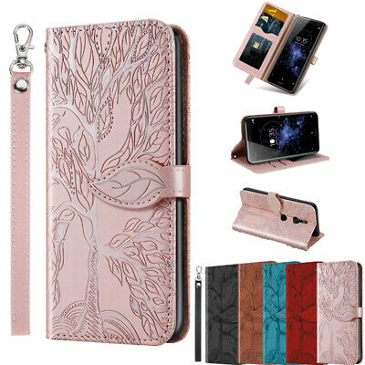 AU9.99 • Buy For Sony Xperia XZ2 Magnetic Flip Leather Card Wallet Stand Lanyard Case Cover