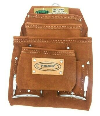 AU29.38 • Buy Heavy Duty Leather Tool And Nail Pouch Double Stitched NEW Carpenter Electrician