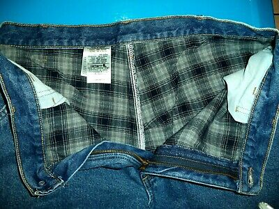 $17.99 • Buy  Mens Carhartt Flannel Lined Carpenter Dungaree Jeans Pants 40 X 34    ..#298