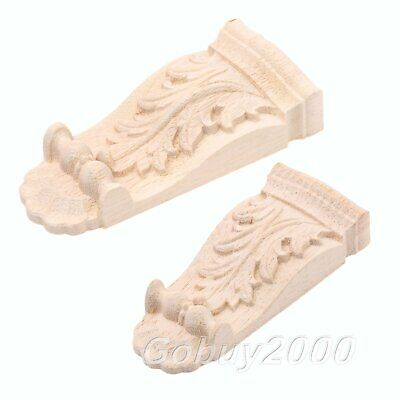 AU5.49 • Buy Wooden Furniture Home Decor Woodcarved Corbels Decal Corner Applique Woodcarving