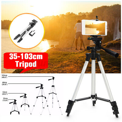 AU13.89 • Buy Telescopic Camera Tripod Stand Holder Phone Mount For IPhone 12 For Samsung S20+