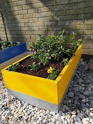 £49 • Buy Garden Raised Bed And Planters Metal Yellow 100(L)*50(W)*17.5(H) Cm