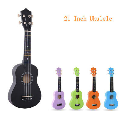 AU29.13 • Buy 21 Inch Ukulele Soprano Concert Ukelele Basswood 4 Strings Musical Instrument