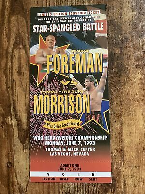 £14.54 • Buy George Foreman-Tommy Morrison 1993 Limited Ed.Souvenir Ticket;Not For Admission