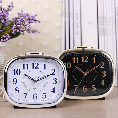 AU19.75 • Buy Bedside Alarm Clock Non-Ticking Display Silent Sweep Desk W/ Night Light