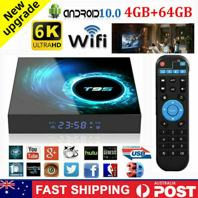 AU84.95 • Buy T95 Smart TV BOX 4K Android 10.0 OS Keyboard WIFI Prime Netflix Youtube Movies