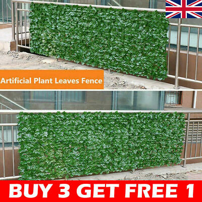 £8.99 • Buy Artificial Faux Ivy Leaf Hedge Panels Roll Privacy Screening  Fence Decor
