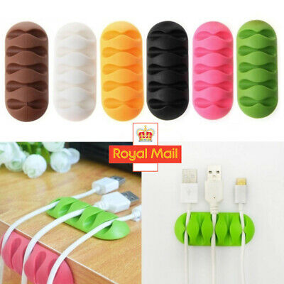 £1.99 • Buy Cable Clip Desk Tidy Winder Organizer Phone Wire USB Charger Holder Lead Fixing