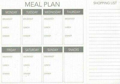 £5.99 • Buy Weekly Magnetic Meal Planner Fridge Food Family Rota Notice Board A5 (52 PAGES)