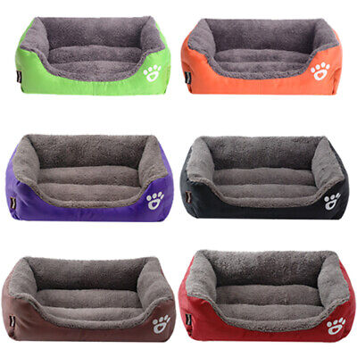 AU35.85 • Buy Pet Couch Dog Cat Sofa Bed Bolster Soft Suede Warm Cushion Deluxe Soft Washable
