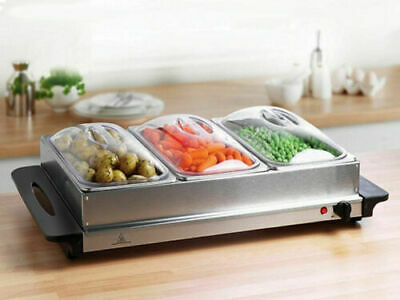 £39.99 • Buy Electric Food Warmer Buffet Server Adjustable 200w Temperature Hot Plate Tray