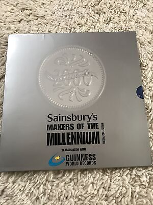 £4.99 • Buy Sainsburys Makers Of The Millenium Medal Collection Book And Coin