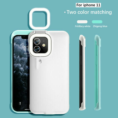 AU38.99 • Buy For IPhone 12 Pro Max 11 Led Fill-Light Mobile Phone Case With Selfie Ring Light