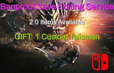 AU28.32 • Buy 2.0 Monster Hunter Rise - Nintendo Switch Save Editing Service