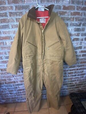 $77.39 • Buy Vintage Walls Blizzard Pruf Men's SZ 3XL Brown Quil Insulated Jumpsuit Coveralls