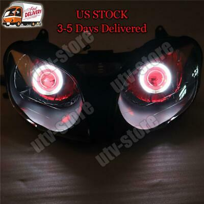 $259.99 • Buy MF Front Headlight Red Angel Eye Fit For Kawasaki 2000-2002 ZX6R 636 S014