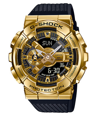 $251.50 • Buy Casio G-Shock Metal Covered Stainless Steel Bezel Gold Color Analog GM-110G-1A9