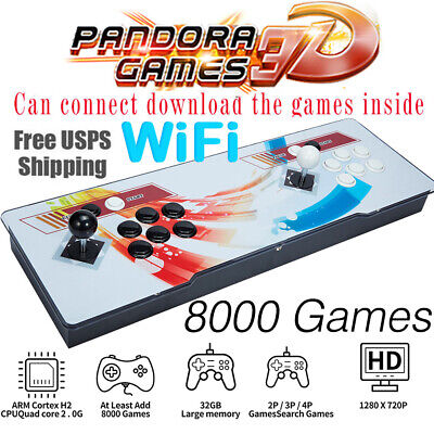 AU228.68 • Buy 2021 Pandora Box 8000 3D & 2D Games In 1 Home Arcade Console Video HDMI WIFI New