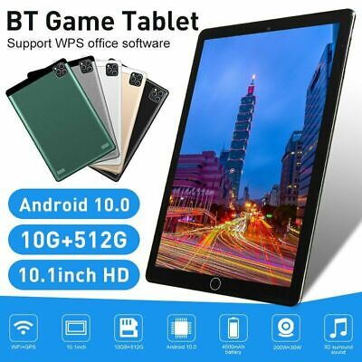 AU131.34 • Buy 2021 10.1  WiFi Tablet Android 10.0 10G+512G 10 Core PC Google GPS+ Dual Camera
