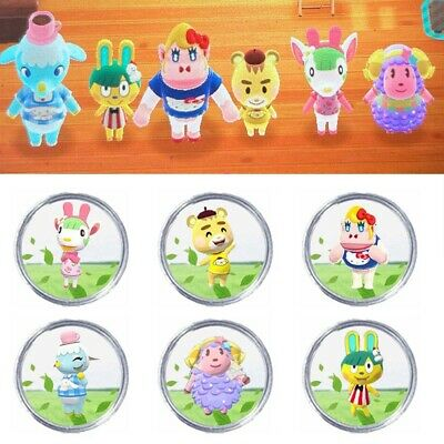 AU14.69 • Buy HOT!All 6 X Animal Crossing Sanrio Amiibo NFC Compatible Round Cards