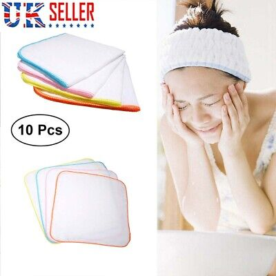 £4.59 • Buy 10 Pcs  Cotton Face Facial Cleansing Muslin Cloth Towel Cleaning Makeup Removal