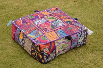 £12.99 • Buy 22'' Square Decorative Cushion Cover Throw Patchwork Handmade Floor Pillow Cover