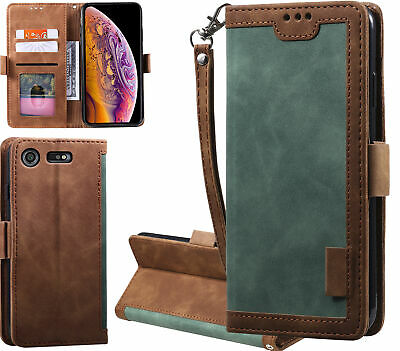 AU15.50 • Buy Sony Xperia Xz Premium Case Contrast Denim Wallet