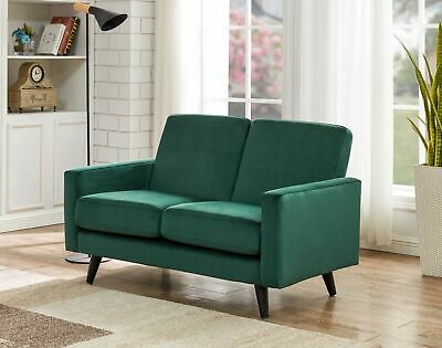 £249 • Buy Green Velvet Sofa 2 Seater - FREE NEXT DAY DELIVERY - Tampa Range, Quick Set-up