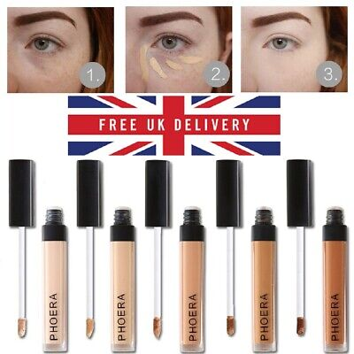 💙Phoera Full Coverage Concealer Foundation Makeup Matte Brighten Long Lasting💙 • 3.29£