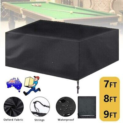 AU25.55 • Buy Pool Snooker Billiard Table Cover Fitted Heavy Duty Vinyl 7'8'9' Ft Foot RRP $29