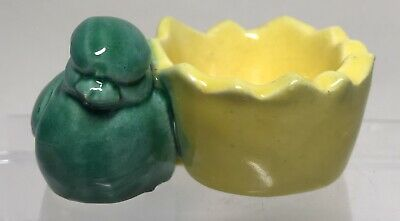 £3.50 • Buy Rare Vintage Green Bird & Yellow Egg Shell Egg Cup ***See Note***