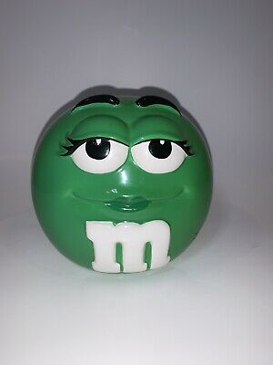 $12.99 • Buy M&M Cookie Candy Jar Canister Without Lid Green Mars Inc Ceramic
