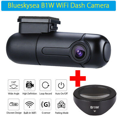 AU82.99 • Buy Mini B1W 1080P WiFi Car Dash Cam 360° Rotate Capacitor DVR Camera Video W/ CPL!